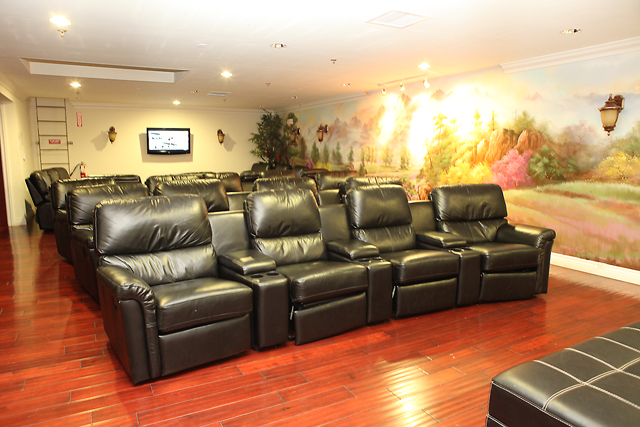 VIP Room, prepared for 18 and over, adults only!  A nice, air-conditioned area with leather recliners for our guests to relax in a cool, peaceful area.